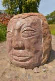 Stone face at Schwetz castle, Poland Royalty Free Stock Photography