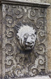 Stone Face Sculpture in the Old City in Solothurn. Solothurn is the capital of Solothurn canton in Switzerland. It is located on banks of the Aare and on the royalty free stock photos