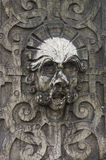 Stone Face Sculpture in the Old City of Solothurn Stock Photos