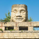 Stone face of a temple. Stock Photography