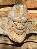 Stone face on wall in Bagan, Myanmar Stock Image