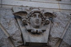 Stone face of wall decore plate Royalty Free Stock Photo