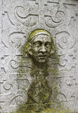 Stone Face Wall Sculpture in the Old City in Solothurn Royalty Free Stock Images