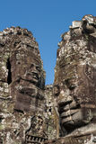 Stone faces of Bayon temple. Angkor, Cambodia Royalty Free Stock Photography