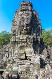 Stone Faces at Bayon Temple (Prasat Bayon) Stock Images