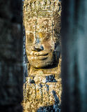 Stone faces at the bayon temple in siem reap,cambodia 9 Royalty Free Stock Images