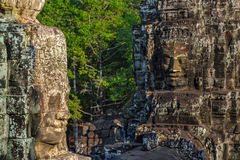 Stone faces at the bayon temple in siem reap,cambodia 8 Stock Photo