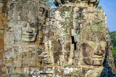 Stone faces at the bayon temple in siem reap,cambodia 4 Stock Images