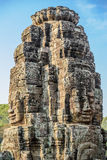 Stone faces at the bayon temple in siem reap,cambodia Stock Photo