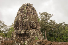 Stone faces at the bayon temple in siem reap,cambodia Stock Images
