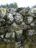 Stone faces. Faces carved into ruined stone walls above the Big Water of Fleet, Galloway Stock Photo