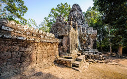 Stone faces at the entrance to a temple in siem reap,cambodia 14 Stock Images