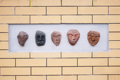 Stone faces Royalty Free Stock Photography