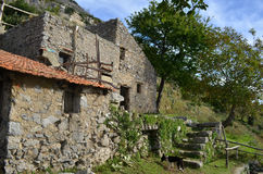 Stone Farm Building on the Hiking Trail Known and the Path of Go Stock Photos