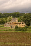 Stone farm in countryside Royalty Free Stock Image