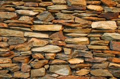 Stone Feature Wall. A close up shot of a stone feature wall stock photography
