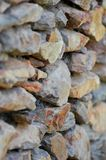 Stone Feature Wall. A close up shot of a stone feature wall Royalty Free Stock Images