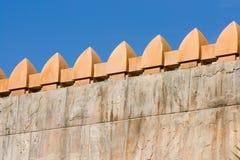 Stone fence royalty free stock image