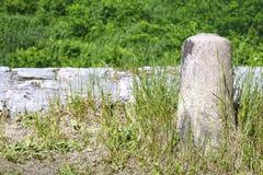 Stone fence of the ancient bridge Royalty Free Stock Photos
