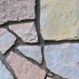 Stone fence background, stonewall macro closeup, decorative limestone dolomite calcium carbonate hard sedimentary slate slab rock Royalty Free Stock Photos