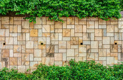 The stone fence in a garden Royalty Free Stock Image