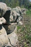 Stone fence Massachusetts Stock Image