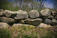 Stone fence in Massachusetts Stock Photo