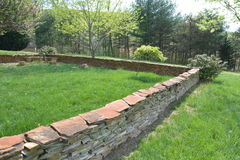 Stone fence Stock Photography