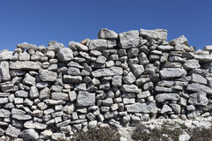 Stone fence. Royalty Free Stock Images