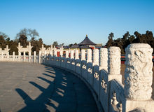 Stone fence in Temple of Heaven Royalty Free Stock Image