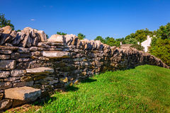 Stone fence Royalty Free Stock Photos