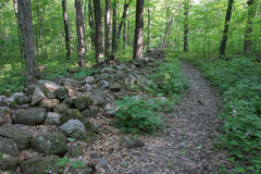 Stone Fence trail Royalty Free Stock Photos