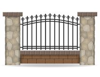 Stone fence vector illustration Royalty Free Stock Image