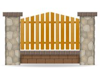Stone fence vector illustration Stock Photo