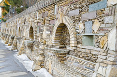 Stone fence. Stock Images