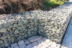 Stone fence on the waterfront in Pomorie, Bulgaria Stock Photos