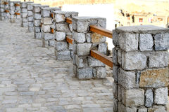 Stone fencing Royalty Free Stock Image