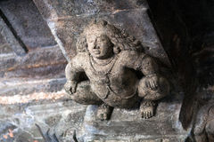 Stone figure of Bharvahaka Yaksha in Ajanta caves, India. The Ajanta Caves in Maharashtra state are about 30 rock-cut Buddhist cave monuments which date from Stock Images