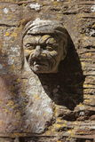 Stone figure head Royalty Free Stock Images