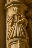 Stone figure of a monk. Sandoval Monastery. Leon. Spain Stock Images