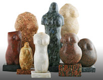 Stone figures Royalty Free Stock Images