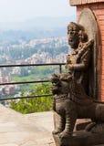 Stone Figures above Kathamandu Stock Image