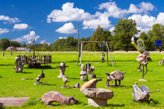 Stone figures Ezerini in Latvia Royalty Free Stock Photography