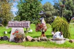 Stone figures Ezerini in Latvia Stock Images