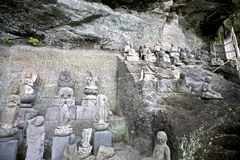 The stone figures of Tokai Arhats Royalty Free Stock Photography