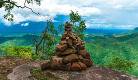 Stone figures. Viewpoint Mountain landscape Mountain landscape Mountain Stock Image