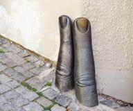 Stone fingers Stock Photography