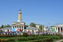 In 1825, a stone fire tower was built in Kostroma, which is now considered the most popular city landmark.  stock image