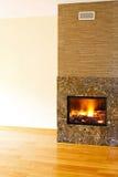Stone firepalce Stock Image