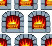 Stone fireplace pattern Stock Image